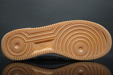 Nike Air Force 1 Low Weiss Gummi Rueckansicht