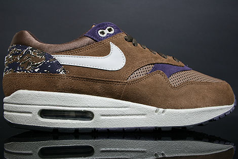 nike air max 1 brown grey purple
