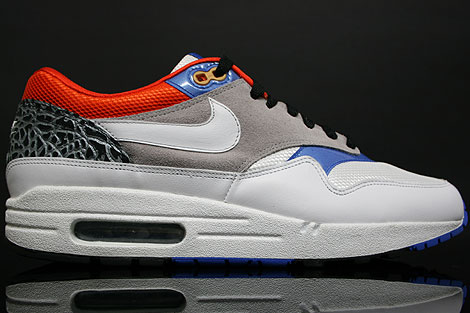 Nike Air Max 1 White Blue-Orange