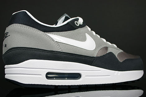 Nike Air Max 1 Grey White Obsidian Back view