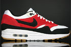 Nike Air Max 1 White Black Varsity Red