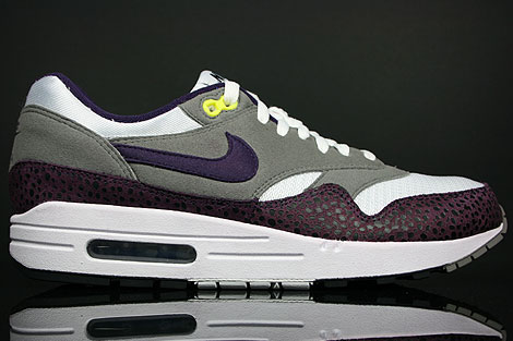 Nike Air Max 1 White Grand Purple Grey 308866 151 Purchaze