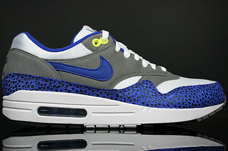 Nike Air Max 1 White Hyper Blue Grey