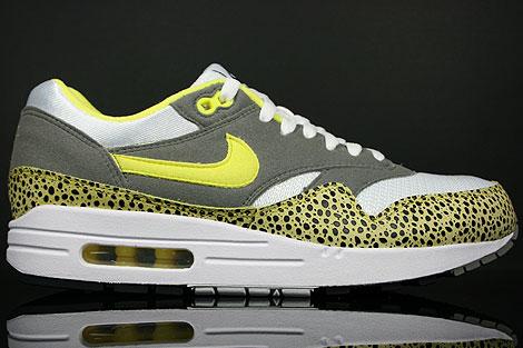 Nike Air Max 1 Weiss Gelb Schwarz Grau
