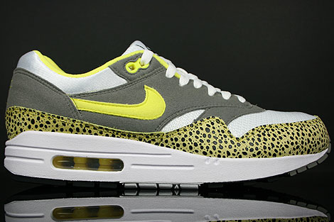 Nike Air Max 1 White Voltage Yellow Grey