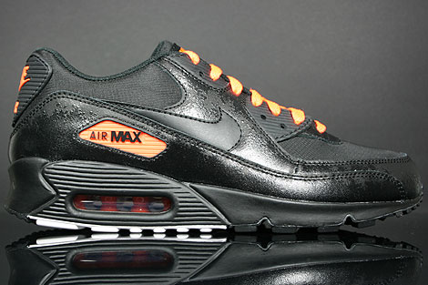 "Nike Air Max 90 Premium ""Black/Total Orange"""
