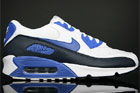 Nike Air Max 90 Weiss Royal Dunkel Blau