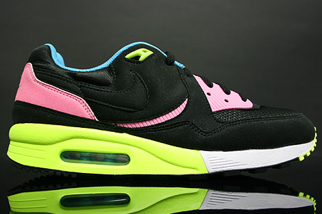 detailed look c4c84 1717a Nike Air Max Light Schwarz Neon Hell Blau
