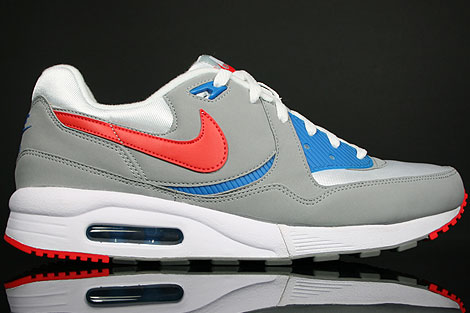 Nike Air Max Light Grey White Hot Red Blue