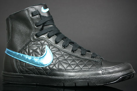 Nike WMNS Blazer Mid Black Baltic Blue Profile