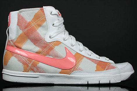 Nike WMNS Blazer Mid Grau Orange Pfirsich Weiss