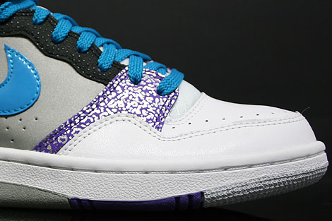 Nike WMNS Court Force Hi White Turquoise Purple Pink Sidedetails