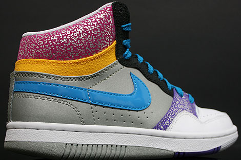Nike WMNS Court Force Hi White Turquoise Purple Pink Back view