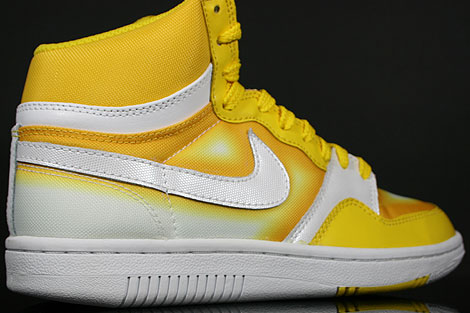 Nike WMNS Court Force Hi Tour Yellow White Back view