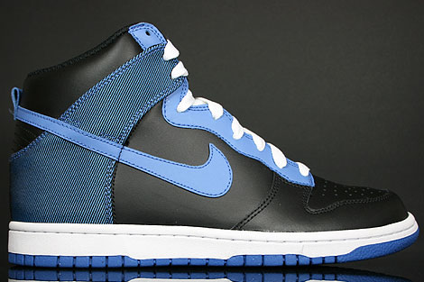 Nike Dunk Hi Black Varsity Blue Flint Grey