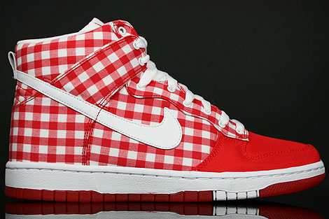 Nike Dunk Hi WMNS Skinny Challenge Red White