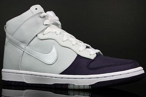 Nike Dunk Hi WMNS Skinny Grand Purple Platinum Sidedetails