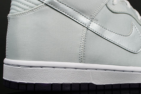 Nike Dunk Hi WMNS Skinny Lila Silber Grau Laufsohle