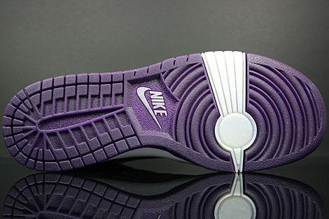 Nike Dunk Hi WMNS Skinny Lila Silber Grau Schuhkarton