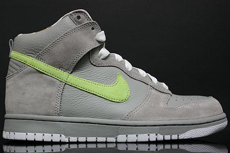 Nike Dunk Hi WMNS Grey Lime White