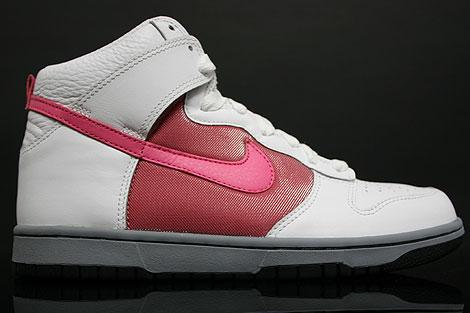 Nike Dunk Hi WMNS White Dark Pink