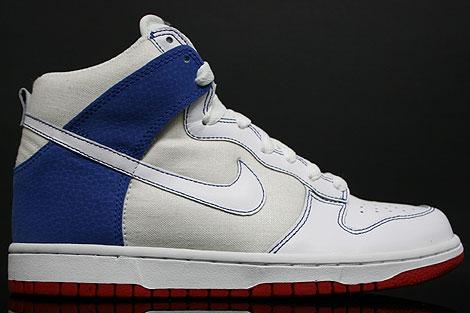 Nike Dunk Hi WMNS White Royal Red