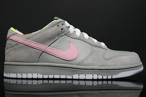 Nike Dunk Low WMNS CL Grey Pink White Right