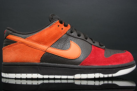 Nike Dunk Low CL Teer Orange Rot Rechts