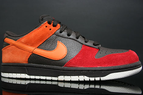 Nike Dunk Low CL Teer Orange Rot Seitenansicht