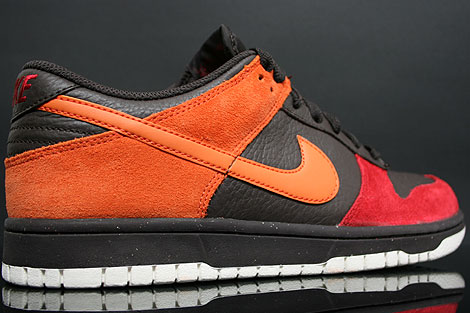 Nike Dunk Low CL Teer Orange Rot Rueckansicht