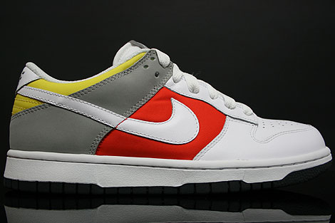 Sale Nike Dunk Low WMNS White Orange Grey