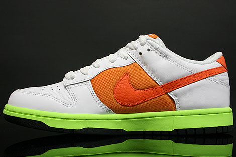Nike Dunk Low WMNS White Orange Seitendetail