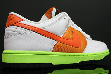 Nike Dunk Low WMNS White Orange Innenseite