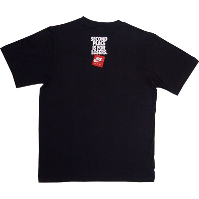 Nike Second Place is for Losers Tee Black Seitendetail