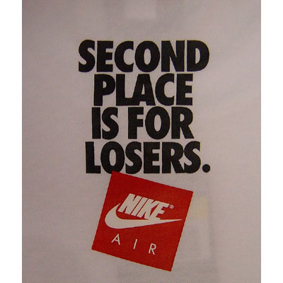 Nike Second Place is for Losers Tee White Innenseite