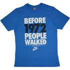 Nike People Walked T Shirt Foto Blau