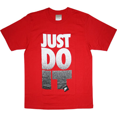 Nike Just Do It Tee Speckled Red