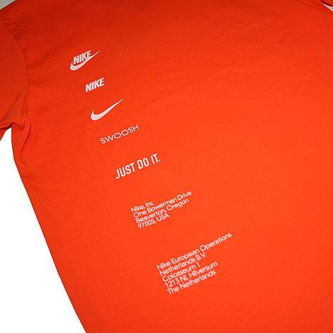 Nike Box Tee Orange Profile