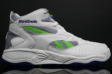 Reebok Pump D-Time White Royal Green