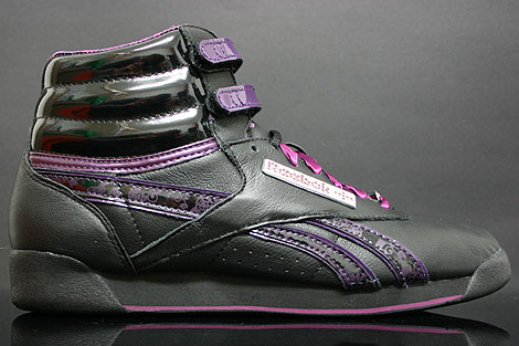Reebok Freestyle Hi Int Birthstone Black Purple