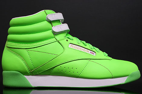 Reebok Freestyle Hi Int Brights Neon Green