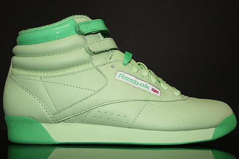 Reebok Freestyle Hi Intl Pastel Green