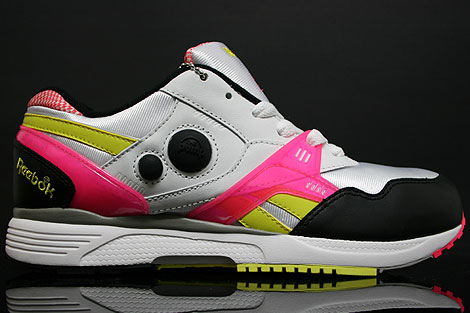 Reebok Pump Running Dual White Yellow Pink