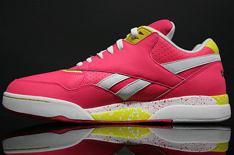 Reebok Reverse Jam Low Pink Yellow Seitendetail