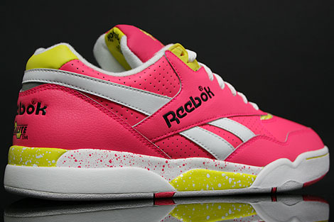 Reebok Reverse Jam Low Pink Yellow Inside