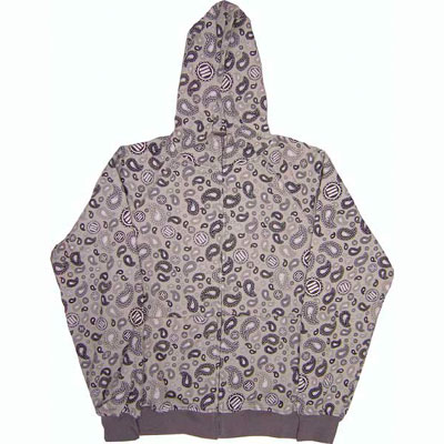 Triumvir3 Stoned Paisley Zip Hoody  Right