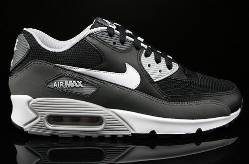 Nike Air Max 90 Essential Schwarz Weiss Dunkelgrau Grau 537384-032 ...